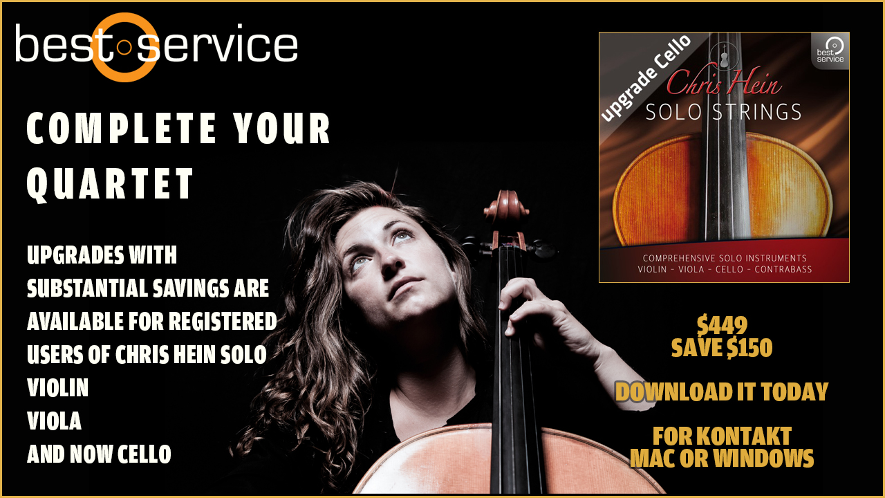 Best Service Upgrades to Chris Hein Solo Strings Complete